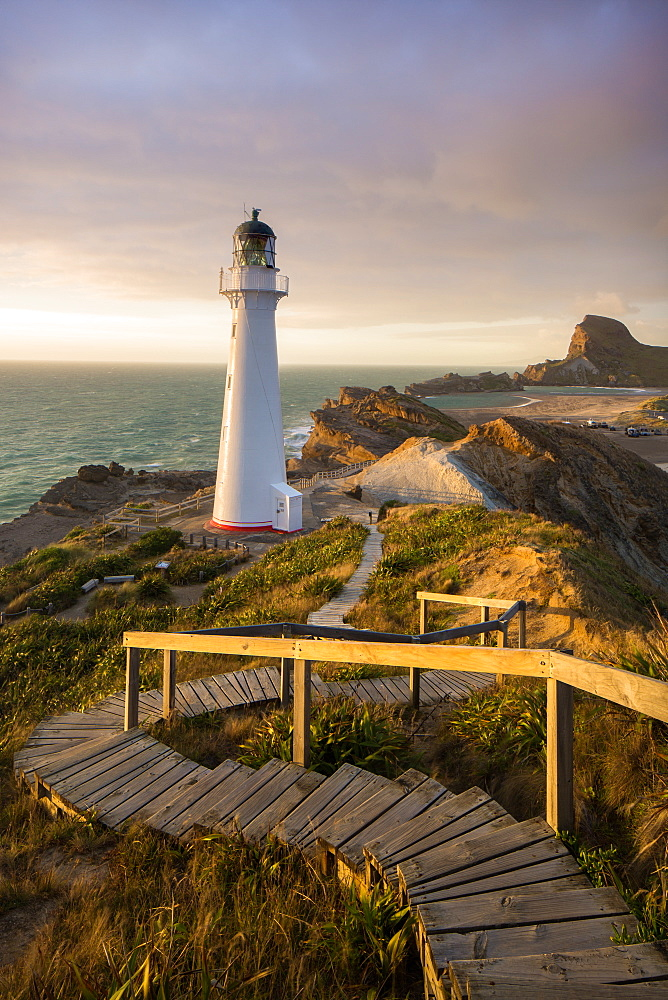 Castle Point Lighthouse, Castlepoint, Wairarapa, North Island, New Zealand, Pacific - 1199-16