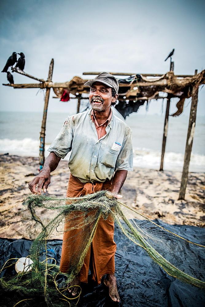 Fisherman, Negombo, Sri Lanka, Asia