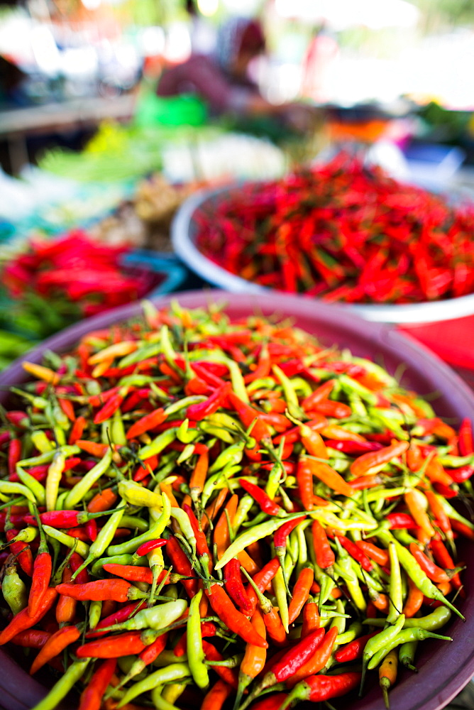 Chillies in market, Phuket, Thailand, Southeast Asia, Asia - 1199-297