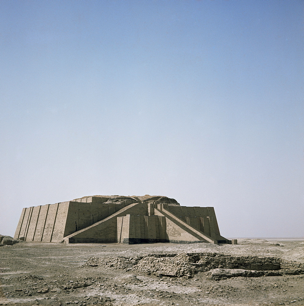 The ziggurat at Ur, Iraq, Middle East