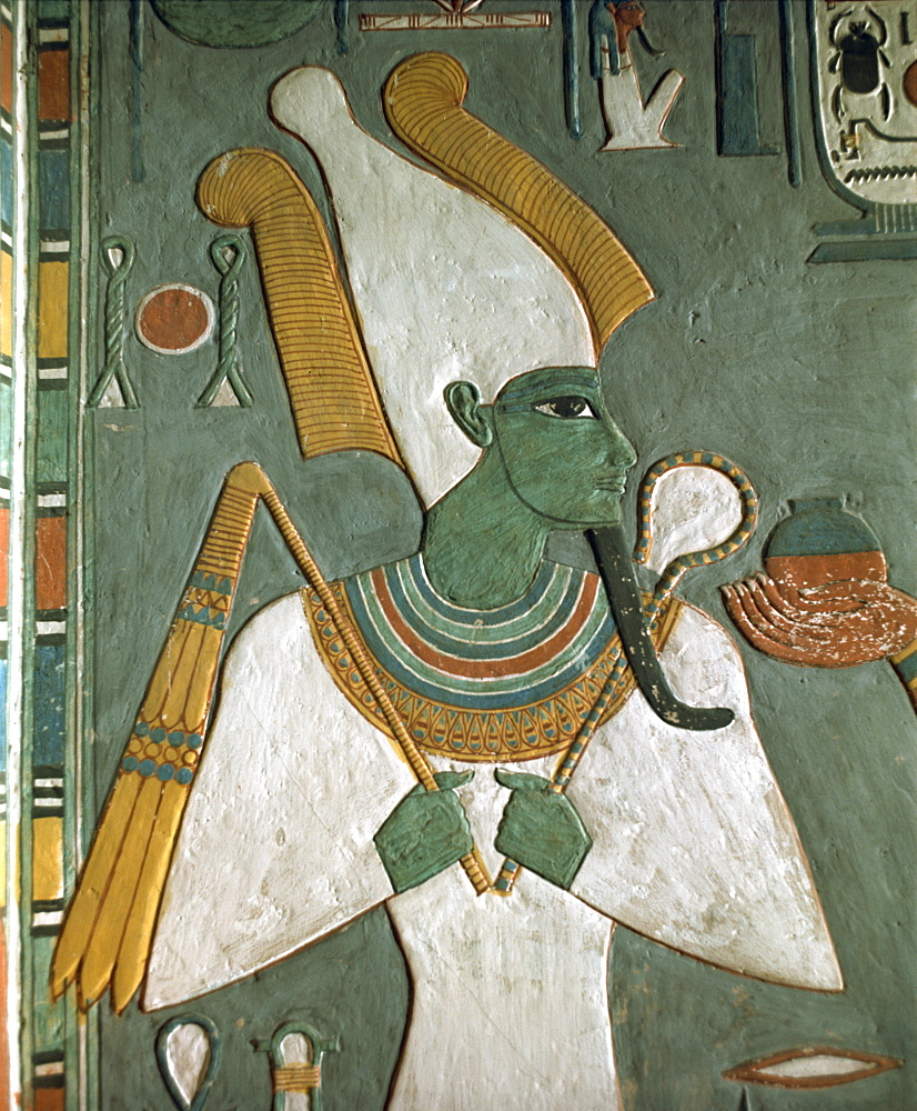 Detail from the Tomb of Horemheb, Valley of the Kings, Thebes, UNESCO World Heritage Site, Egypt, North Africa, Africa