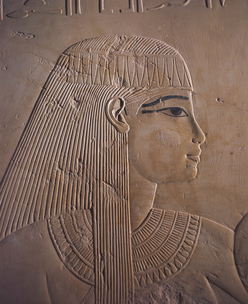 Detail, Tomb of Ramose, Valley of the Nobles, Thebes, UNESCO World Heritage Site, Egypt, North Africa, Africa - 120-802