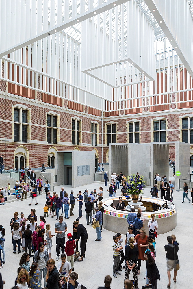 The main entrance hall of Rijksmuseum, Amsterdam, Netherlands, Europe