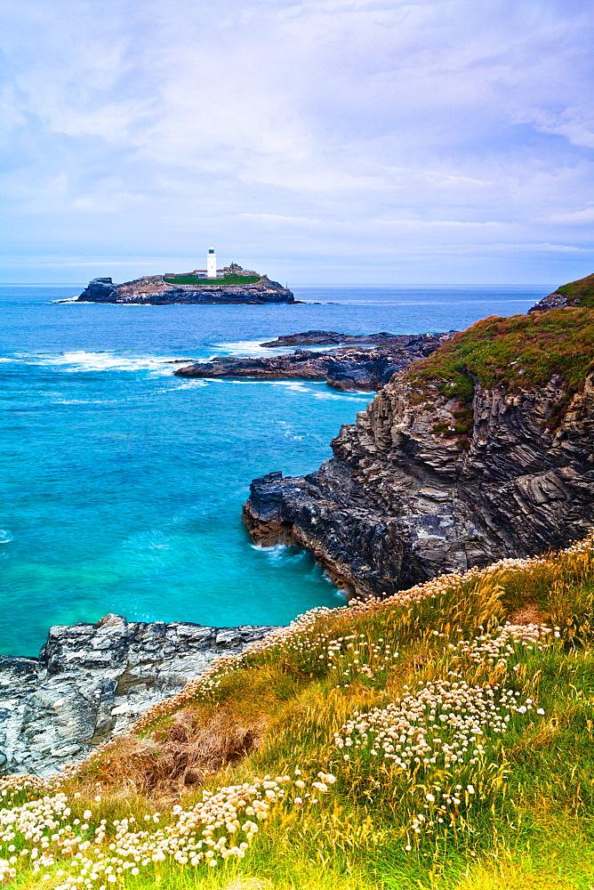 Godrevy Lighthouse, Cornwall, England, United Kingdom, Europe - 1207-14