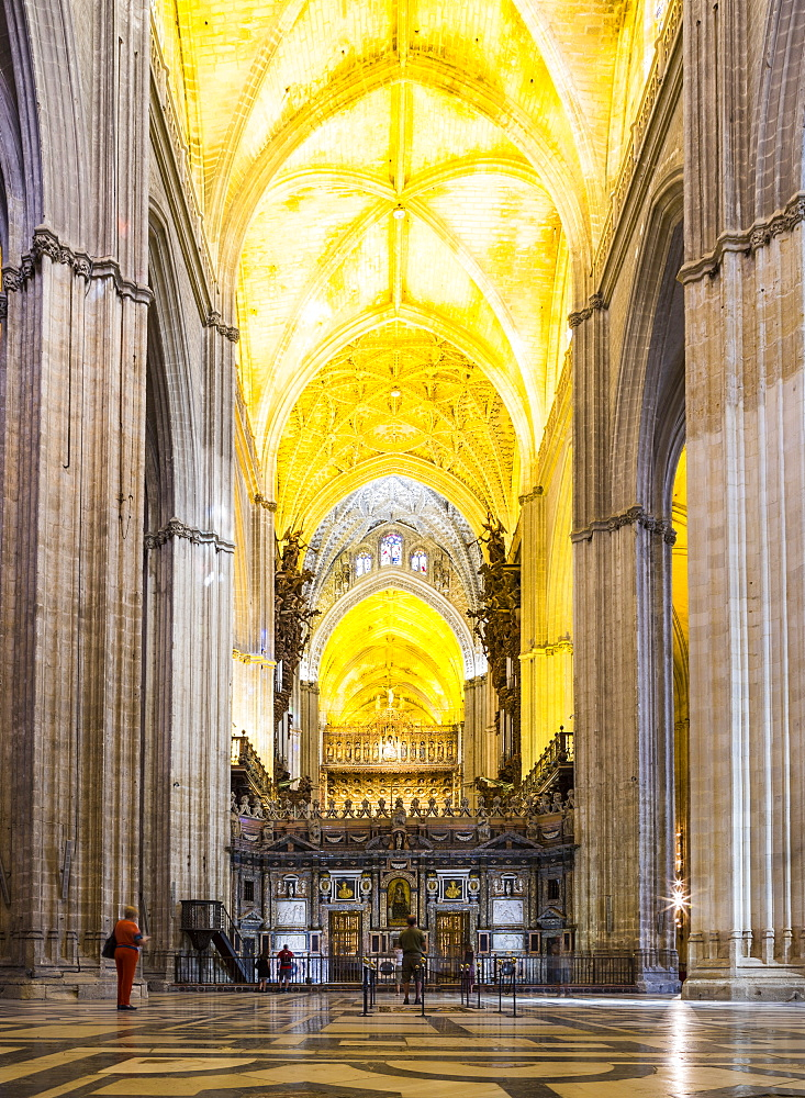 The inside of Seville Cathedral (Catedral Sevilla), UNESCO World Heritage Site, Andalucia, Spain, Europe - 1207-219