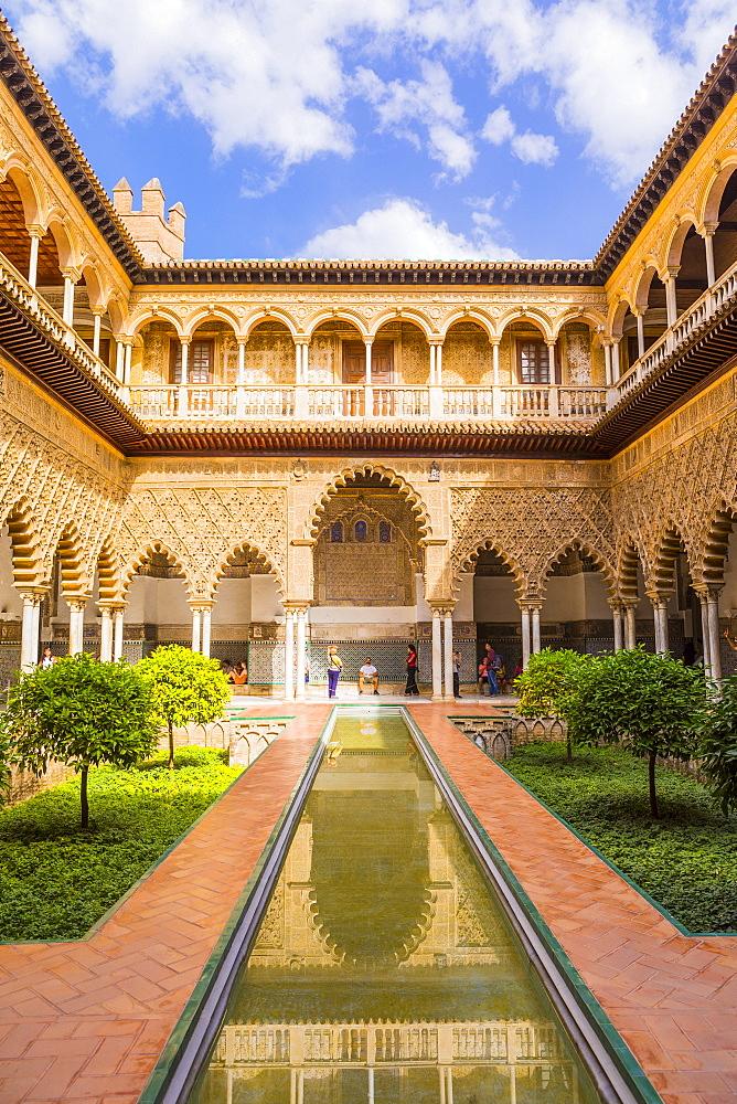 Real Alcazar, UNESCO World Heritage Site, Santa Cruz district, Seville, Andalusia (Andalucia), Spain, Europe - 1207-231