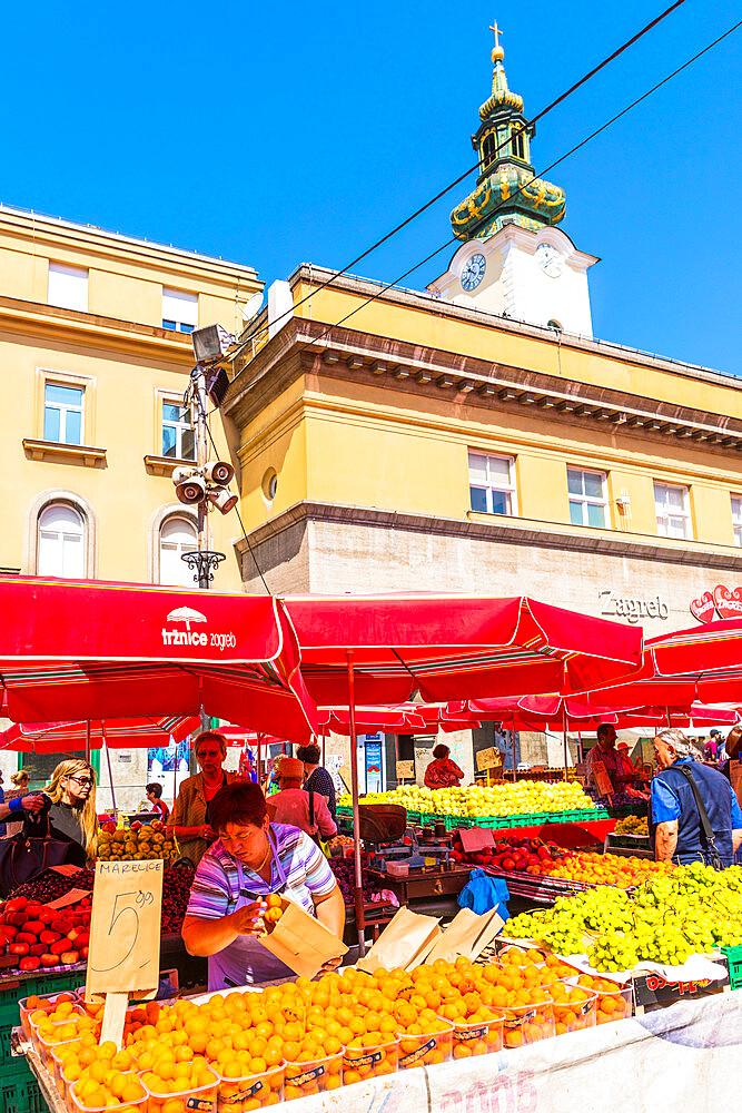 Dolac, market square, Zagreb, Croatia, Europe - 1207-283