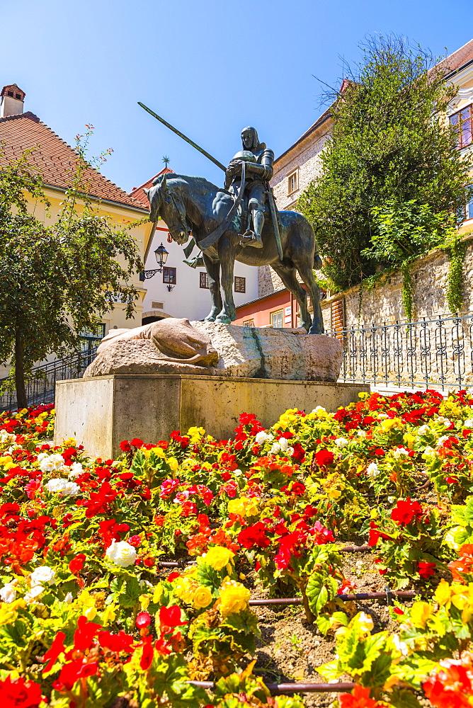 Saint George slains The Dragon monument, Zagreb, Croatia, Europe - 1207-287