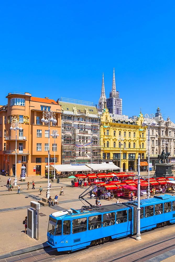 View of Ban Jelacic Square, Zagreb, Croatia, Europe - 1207-289