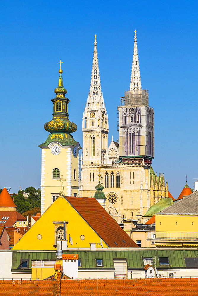 View of the Cathedral of the Assumption Blessed Virgin Mary, Zagreb, Croatia, Europe - 1207-293