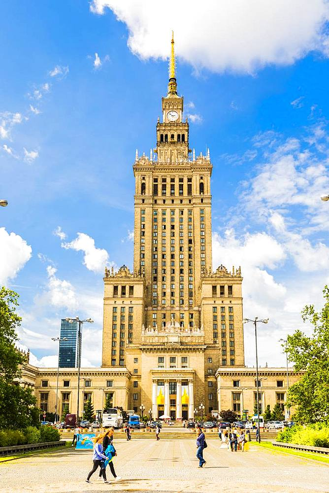 Palace of Culture and Science, City Centre, Warsaw, Poland, Europe - 1207-350