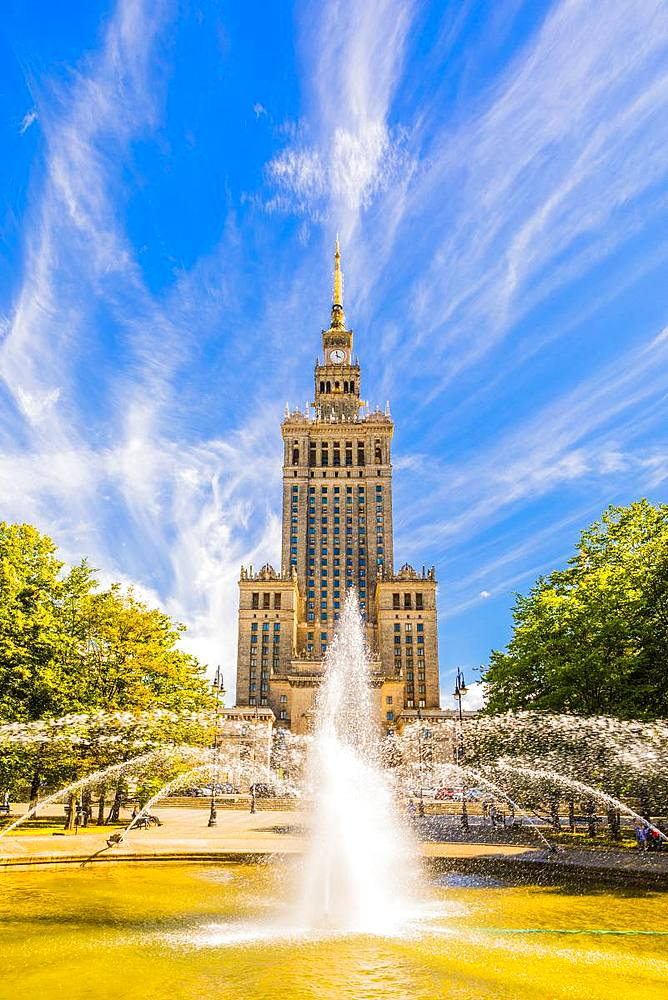 Palace of Culture and Science, City Centre, Warsaw, Poland, Europe