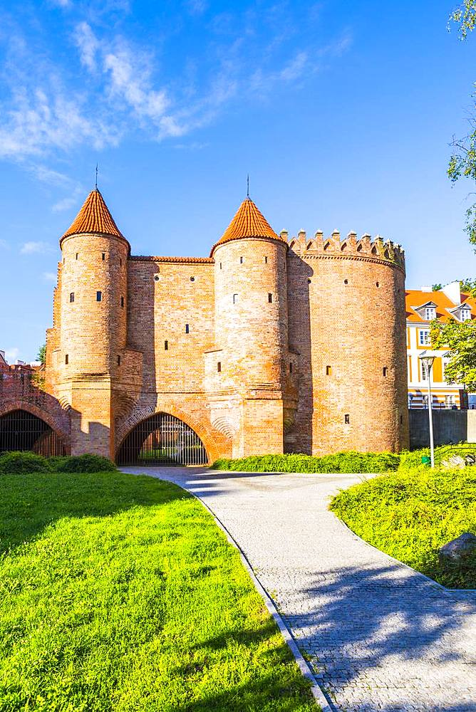 Warsaw Barbican, Old Town, UNESCO World Heritage Site, Warsaw, Poland, Europe - 1207-378