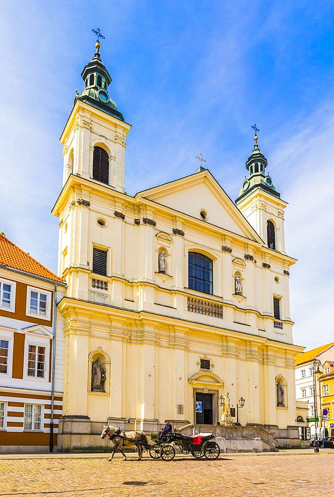 Church of the Holy Spirit, Old Town, UNESCO World Heritage Site, Warsaw, Poland, Europe - 1207-395