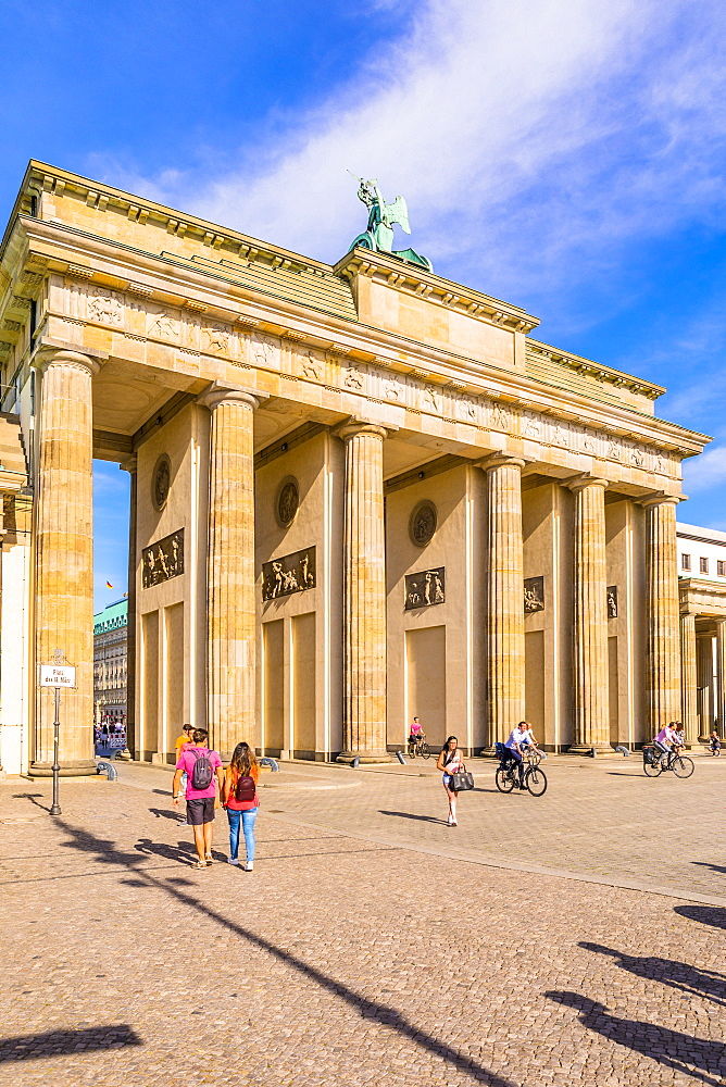 Brandenburg Gate, Berlin, Germany, Europe - 1207-551