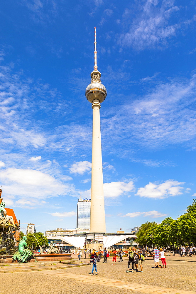 The Berlin Television Tower at Alexanderplatz, Berlin, Germany, Europe - 1207-558