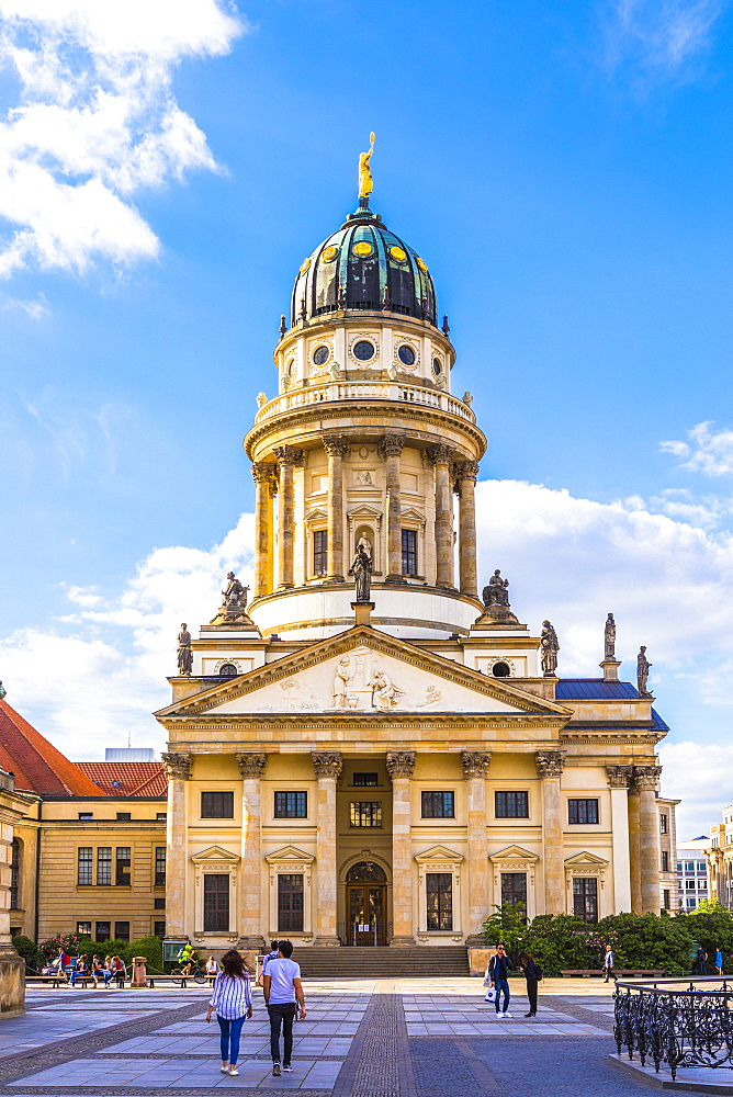 French Cathedral at Gendarmenmarkt, Berlin, Germany, Europe - 1207-560