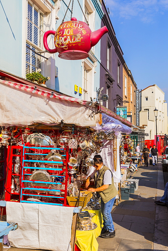 Portobello Market, Portobello Road, Kensington & Chelsea, London, England, United Kingdom, Europe - 1207-588