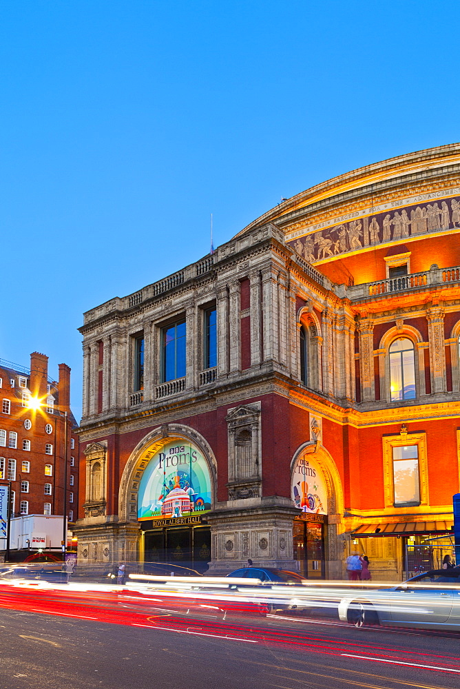 Royal Albert Hall, in early evening light, London, England, United Kingdom, Europe, - 1207-591