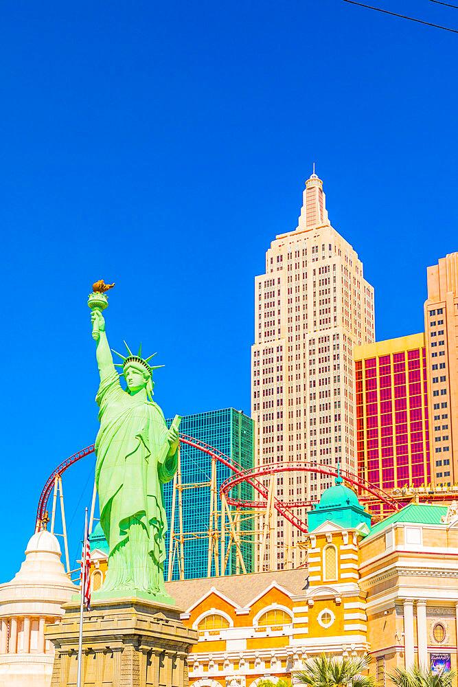 New York New York Hotel and Casino, Las Vegas, Nevada, United States of America, North America