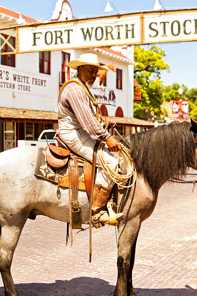 Cowboys in Fort Worth Stockyards, Texas, United States of America, North America