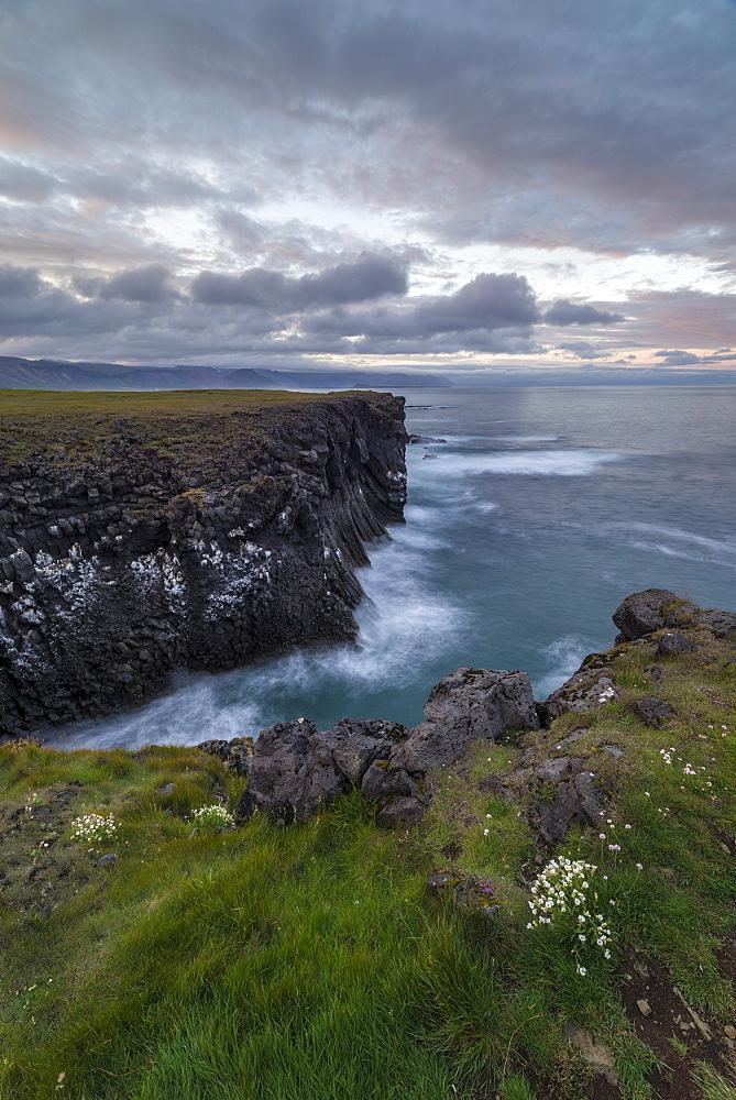 Arnarstapi, Snaefellsnes Peninuslar, Iceland, Rock formations