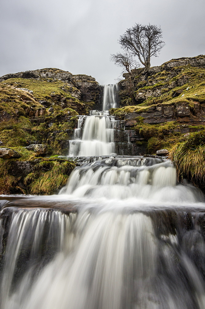 Cray Waterfall, Wharfedale, Yorkshire, England, United Kingdom, Europe - 1209-17