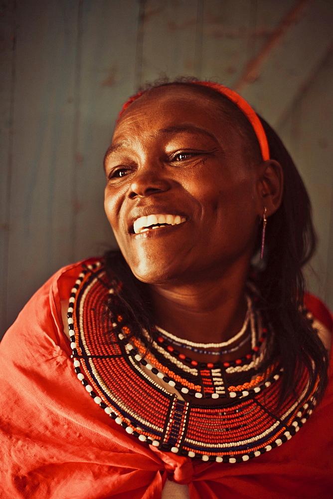 Maasai woman, Kenya, East Africa, Africa