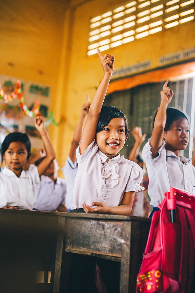 Primary school, Pong Teuk, Cambodia, Indochina, Southeast Asia, Asia - 1211-8
