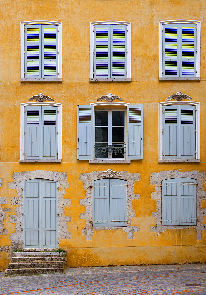 Colourful building in Chartres, Eure-et-Loir, Centre, France, Europe