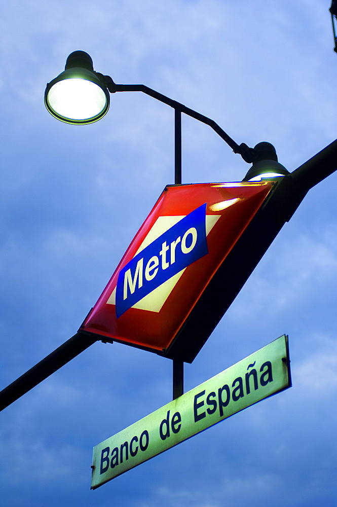 Banco de Espana Metro Station, Madrid, Spain, Europe