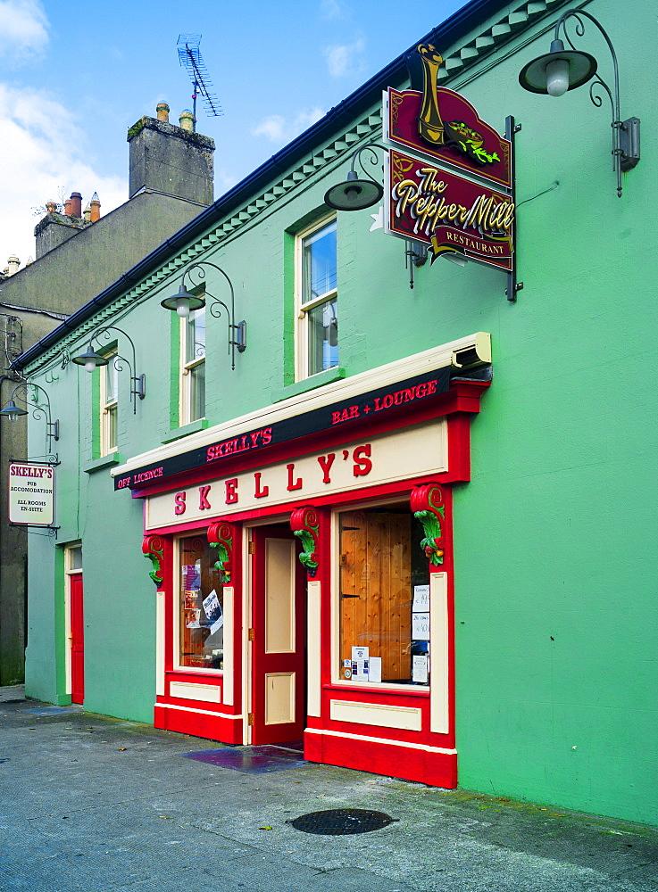 Traditional Irish pub in Ballymahon, Co Longford, Republic of Ireland, Europe