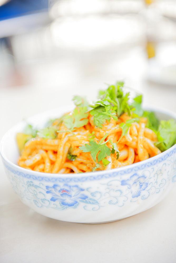 Traditional Burmese noodle dish, Myanmar (Burma), Asia - 1212-461