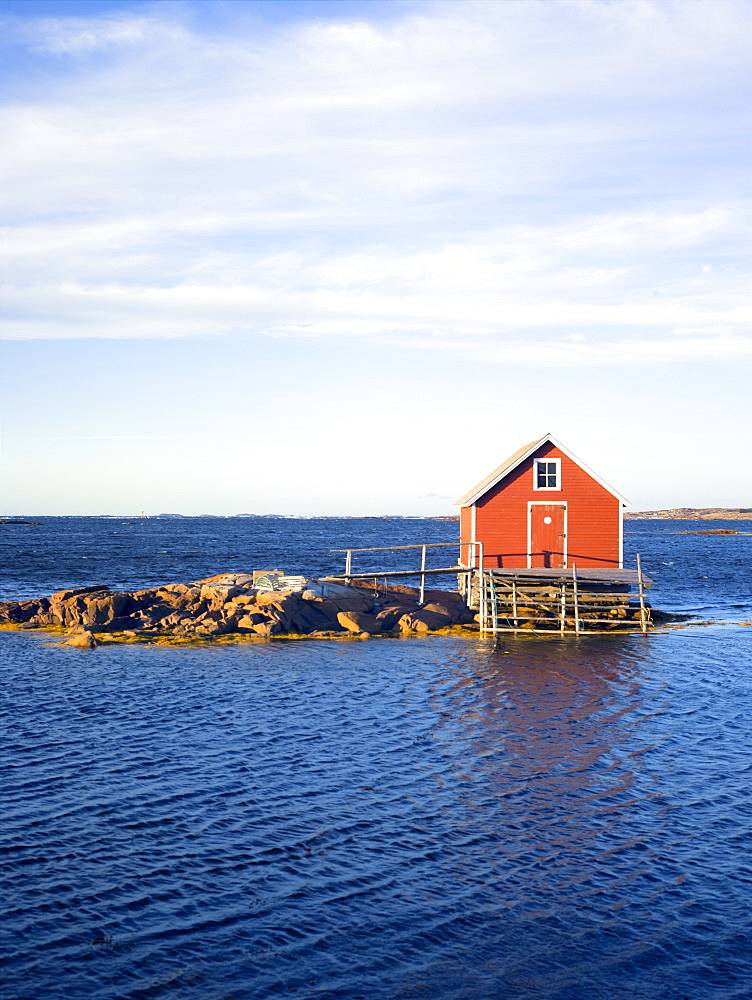 Fishing hut, Fogo Island, Newfoundland, Canada, North America