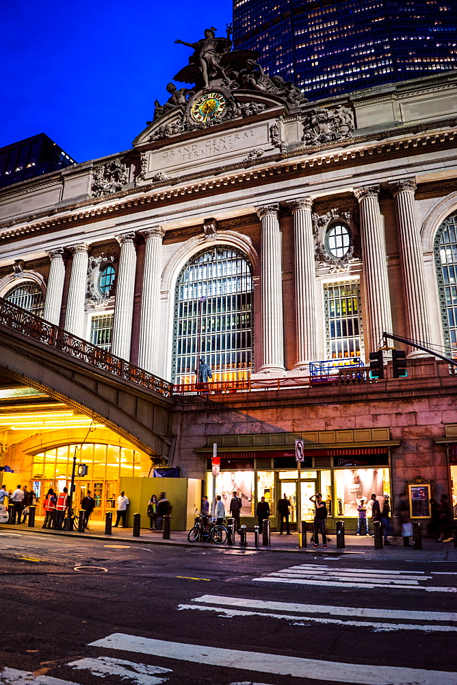 Grand Central Terminal, evening, New York City, United States of America, North America - 1215-1