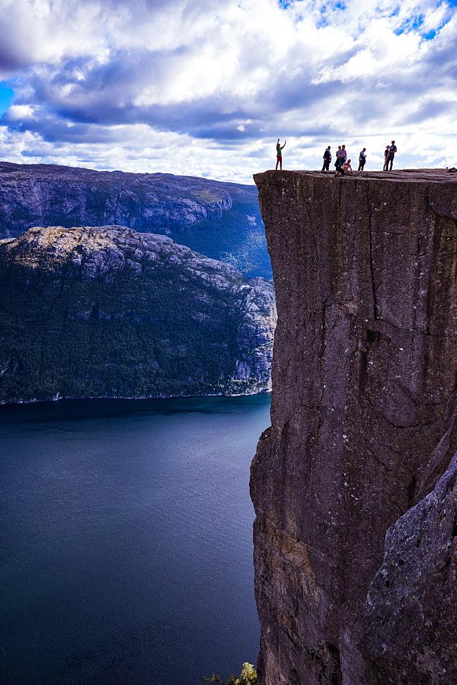 Pulpit Rock, Lysefjord view, Stavanger, Norway, Scandinavia, Europe - 1215-39