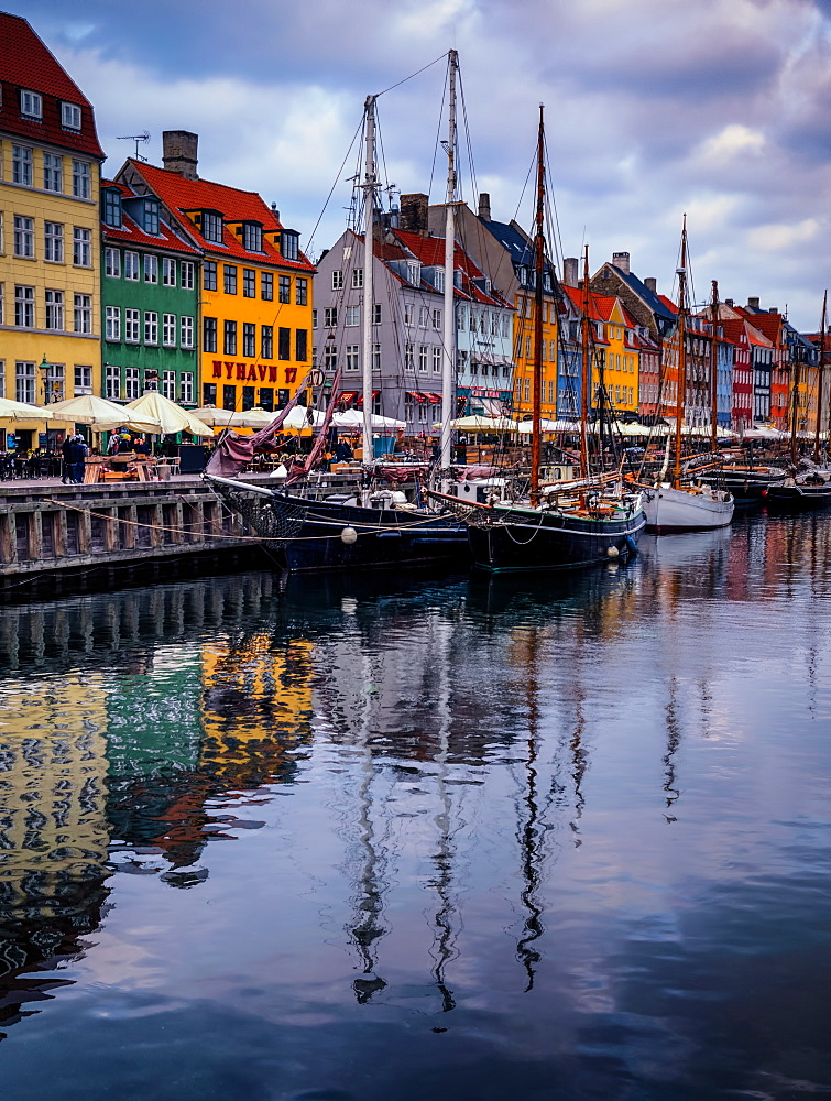 Sunset at Nyhavn, Copenhagen, Denmark, Scandinavia, Europe - 1215-52