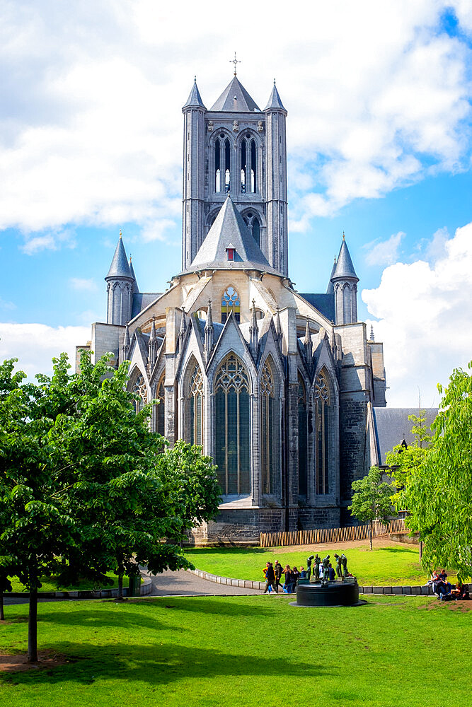 St. Bavo's Cathedral (Sint-Baafskathedraal), Ghent, West Flanders, Belgium, Europe - 1216-473