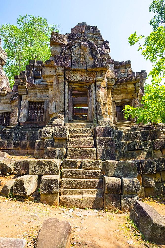 Wat Ek Phnom Temple ruins, Battambang Province, Cambodia, Indochina, Southeast Asia, Asia