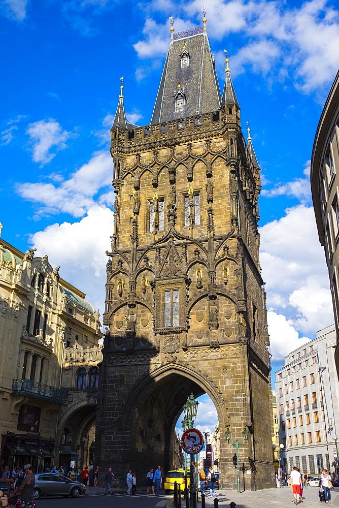 Prasna brana (Powder Gate) (Powder Tower), Stare Mesto (Old Town), Prague, Czech Republic, Europe - 1217-255