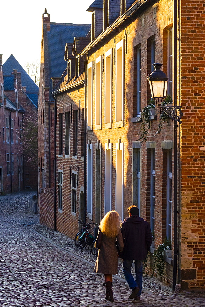 Groot Begijnhof (Grand Beguinage), UNESCO World Heritage Site, Leuven, Flemish Brabant, Flanders, Belgium, Europe