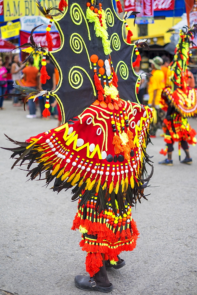 Ati dancer at the Ati-Atihan festival, Kalibo, Aklan, Western Visayas, Philippines, Southeast Asia, Asia