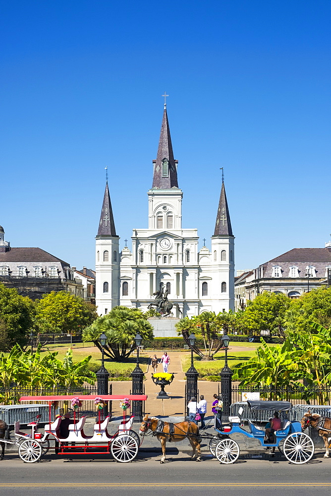 Saint Louis Cathedral on Jackson Square, French Quarter, New Orleans, Louisiana, United States of America, North America