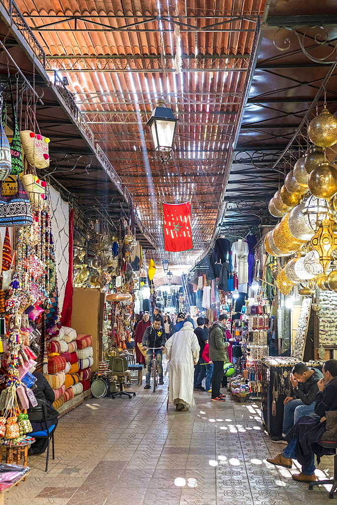 Souks in the Medina (old town), Marrakesh, Morocco, North Africa, Africa