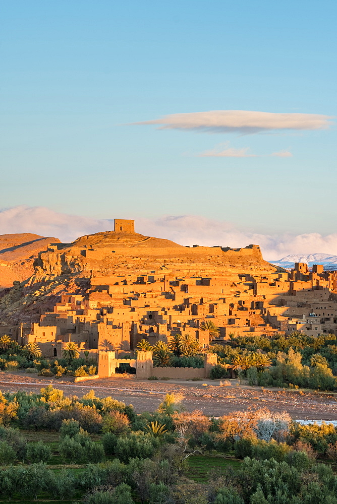 Ksar of Ait Ben Haddou (Ait Benhaddou) at sunrise, UNESCO World Heritage site, Ouarzazate Province, Souss-Massa-Draa, Morocco, North Africa, Africa - 1217-497