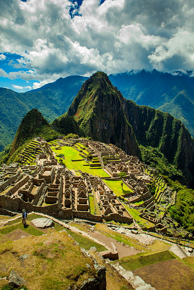 View of Machu Picchu ruins, UNESCO World Heritage Site, Peru, South America