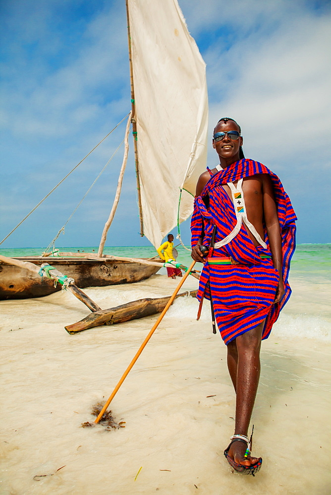 Joseph, The Maasai warrior, Zanzibar Island, Tanzania, East Africa, Africa
