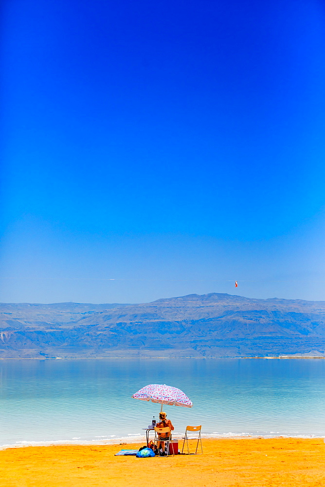 Fun in the Dead Sea in Israel, Middle East - 1218-693