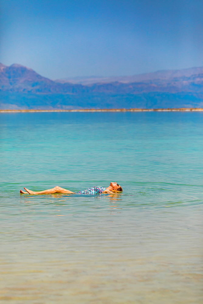 Fun in the Dead Sea, Israel, Middle East