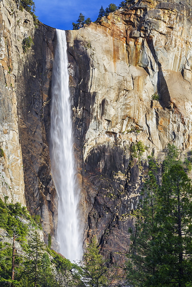 Bridalveil Fall in spring Yosemite National Park, UNESCO World Heritage Site, California, United States of America, North America